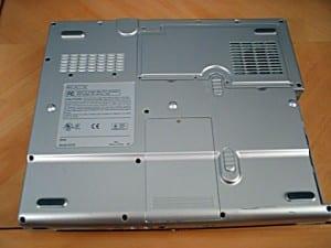 Underside of laptop