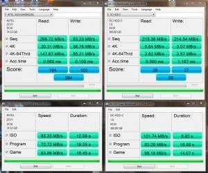 2 SSDs RAID 0 results