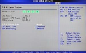 BIOS - GPU Phase Control + LLC Page