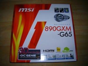 MSI 890GXM-G65 Box Front