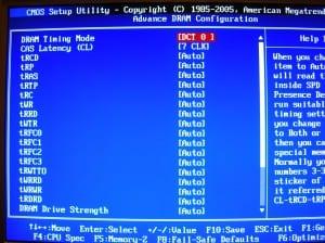 MSI 890GXM-G65 BIOS - Advanced DRAM Configuration