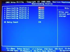 MSI 890GXM-G65 BIOS - OC Profiles