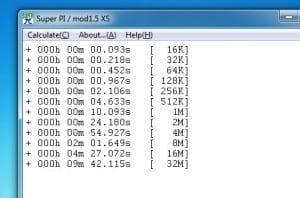 Super Pi Tests @ 4215MHz