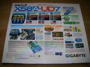 X58A-UD7 Box Back