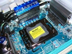 X58A-UD7 CPU Socket Area