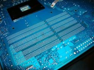 X58A-UD7 Memory Slots Back