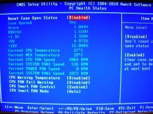 X58A-UD7 PC Health Status