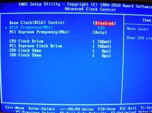 X58A-UD7 M.I.T. Advanced Clock Control