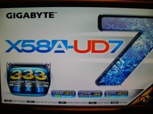 X58A-UD7 POST Logo Display