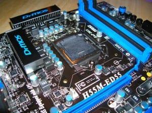 H55M-ED55 CPU Socket Area 2