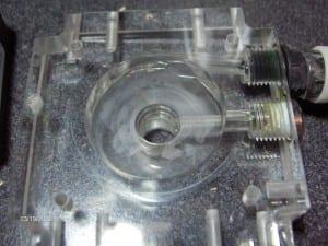 Pump top inlet