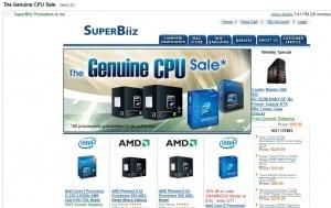 SuperBiz Genuine CPU Sale Email