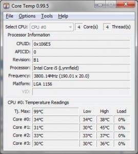 CoreTemp v0.99.5