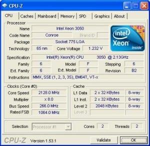 Processor at stock settings