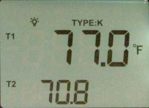 Temperature readout