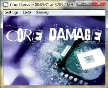 Core Damage Main Window