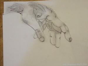 Top Left Hand Stencil
