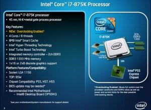 i7 875K Specs