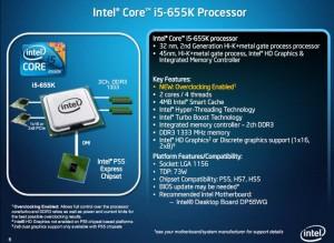 i5 655K Specs
