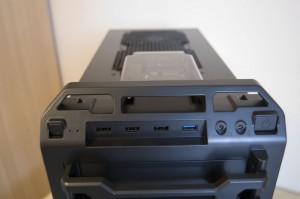 Hot-swap SSD bay, USB ports and audio ports