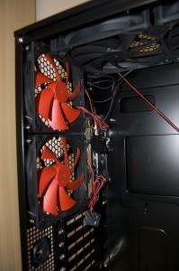 Rear LED-lit fans