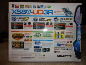 X58A-UD3R Box Back