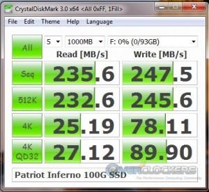 CrystalDiskMark - 1 Fill