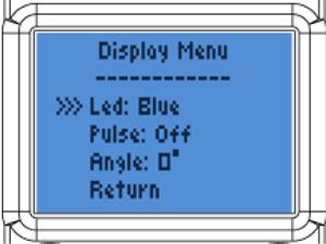 Vantage Display Settings (Courtesy CoolIt)