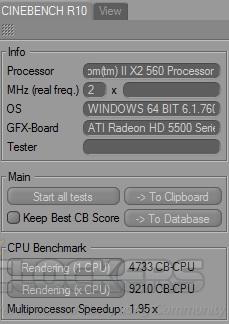 Cinebench R10 at 4133 MHz