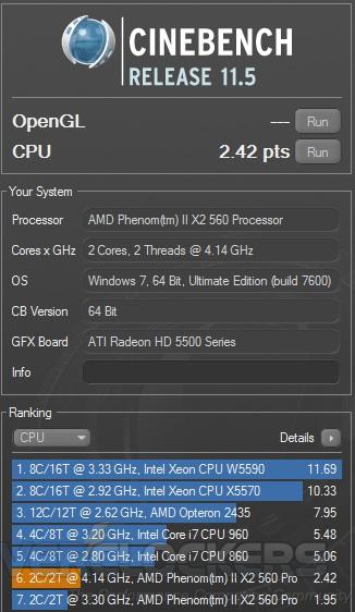 Cinebench R11 at 4133 MHz
