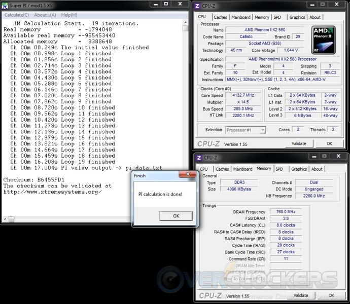 Super Pi 1M at 4133 MHz