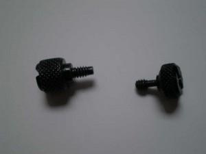 Regular thumbscrew vs. oddball fan door thumbscrew. Both from PS05