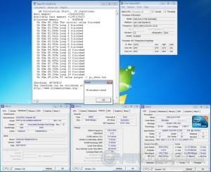 Super Pi 1M at 22x210 MHz