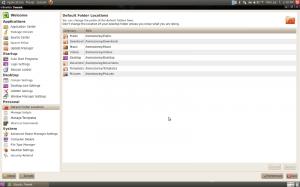 Default Folder Locations