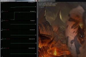 GPU core temp with the VX