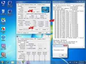 Sandy Bridge CPU-Z and SuperPi (Courtesy Coolaler Forums)