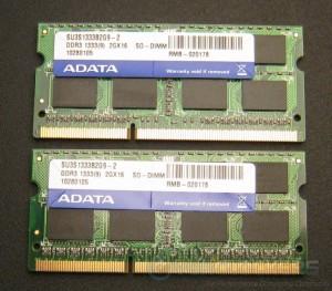 ADATA Supreme DDR3-1333 SO-DIMMs