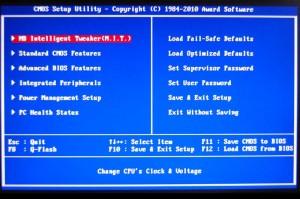 X58A-UD7 Main BIOS Screen