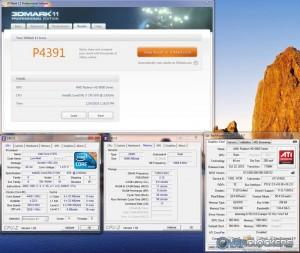 CPU at 4.4 GHz, GPU at stock