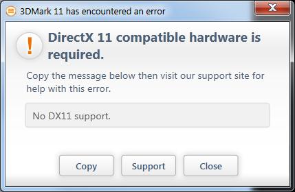No DirectX11 card? No 3DMark11 for you