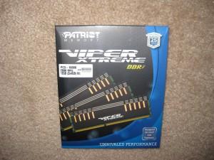 12GB (3X4GB) Patriot Viper Extreme DDR3 2000 Ram, box.