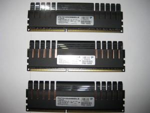 12GB (3X4GB) Patriot Viper Extreme DDR3 2000 Ram.