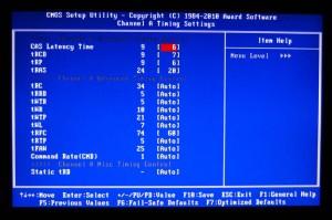 Memory Timing Options