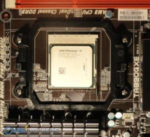 CPU Mounted in Biostar TA890GXE