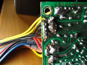 Sloppy soldering