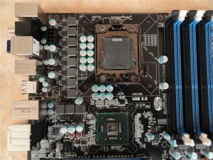 Sapphire Pure Black X58 Socket Area