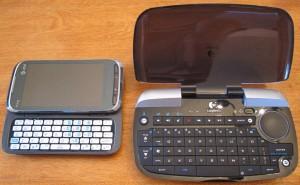 Size comparison to the AT&T Tilt2