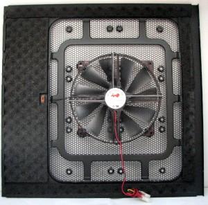 Left side door, fan in stock position