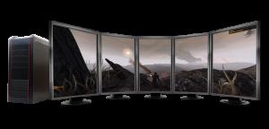 Dragon Age 2 in 5x1 Portrait Eyefinity Mode