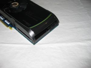 PNY 560 Ti OC2 sporting 2 6 pin PCIe power plugs.